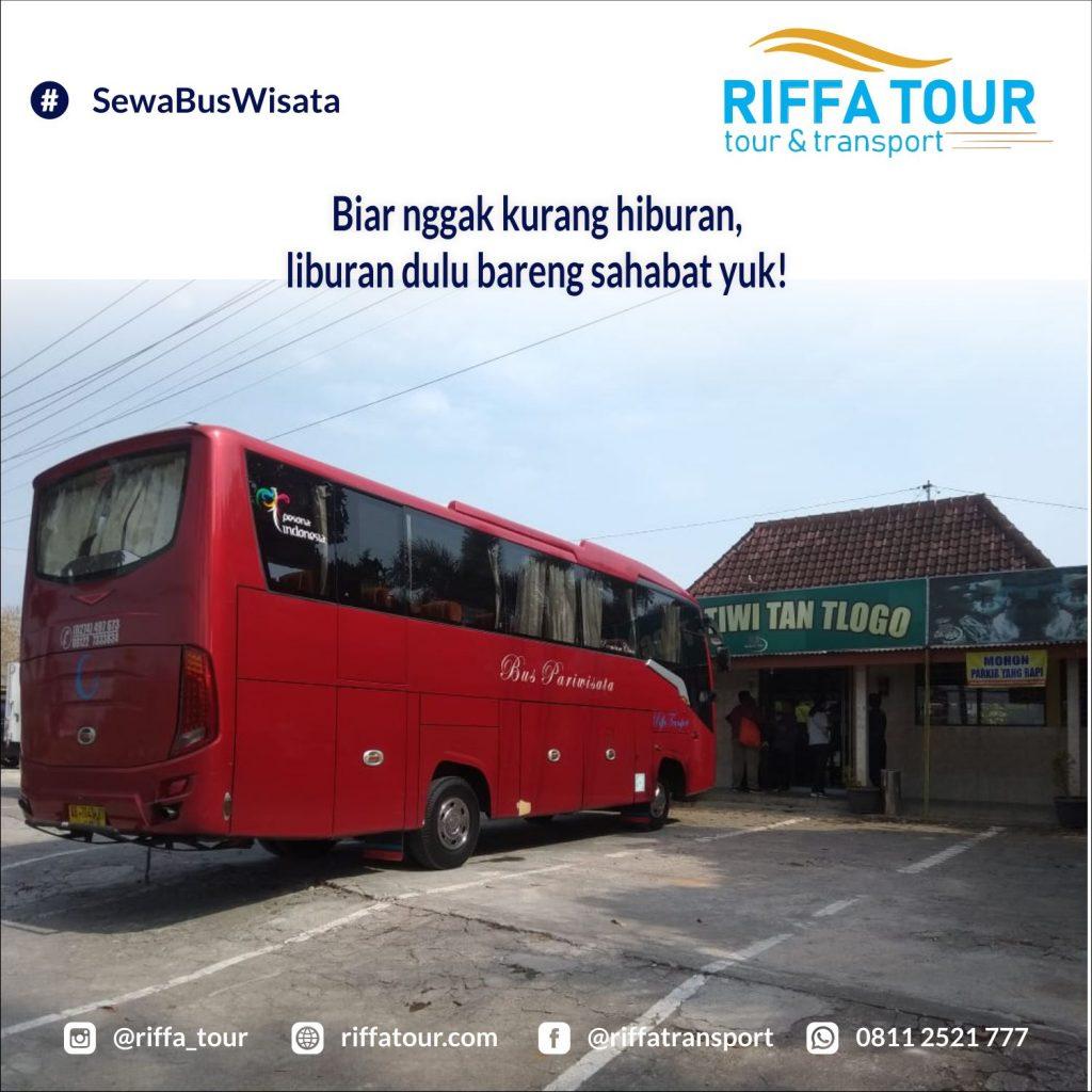Sewa Bus Pariwisata bonus tiket masuk objek wisata